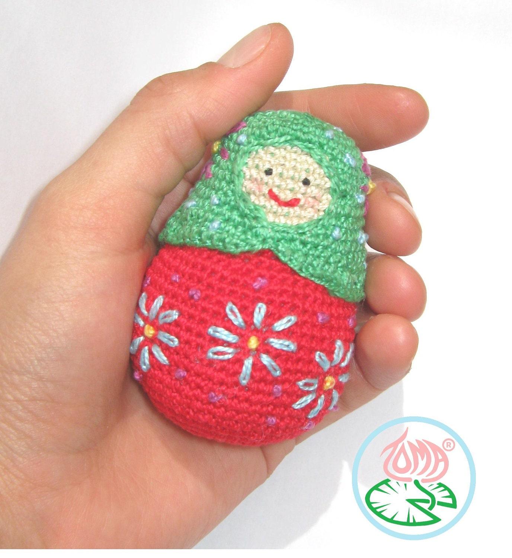 Amigurumi Russian Dolls : Amigurumi Matryoshka Russian Doll PDF pattern by tomacreations