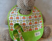 Bib and Bootie Combo: Super Mario 1UP Mushroom - Baby Geek