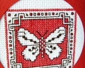 Another butterfly, a postcard in cross-stitch