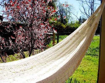Double size, Hand woven Mexican hammock, 100% cotton