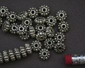 72 pcs Antique Silver Finishing Bali Beads 4.15x8.65mm