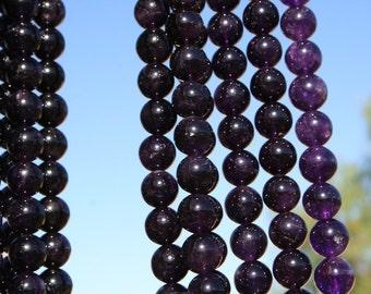 Amethyst(natural) 14mm Round Beads Strand, 16 Inch strand(G01076)