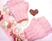 Pink Fingerless gloves Baby Toddler size 12 months