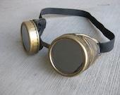 Steampunk Goggles Bright Gold Finish
