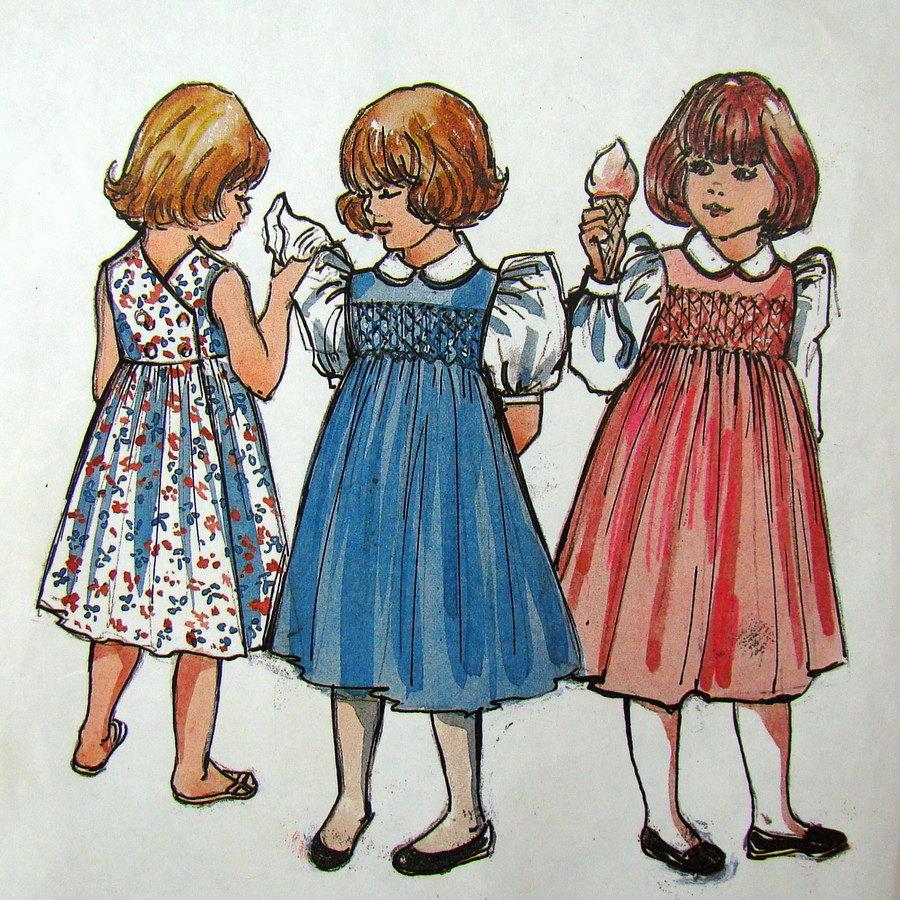 Girls Smocked Dress Jumper Pattern The Children S Corner
