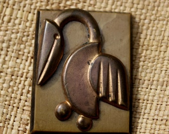 French bakelite brooch around 1930