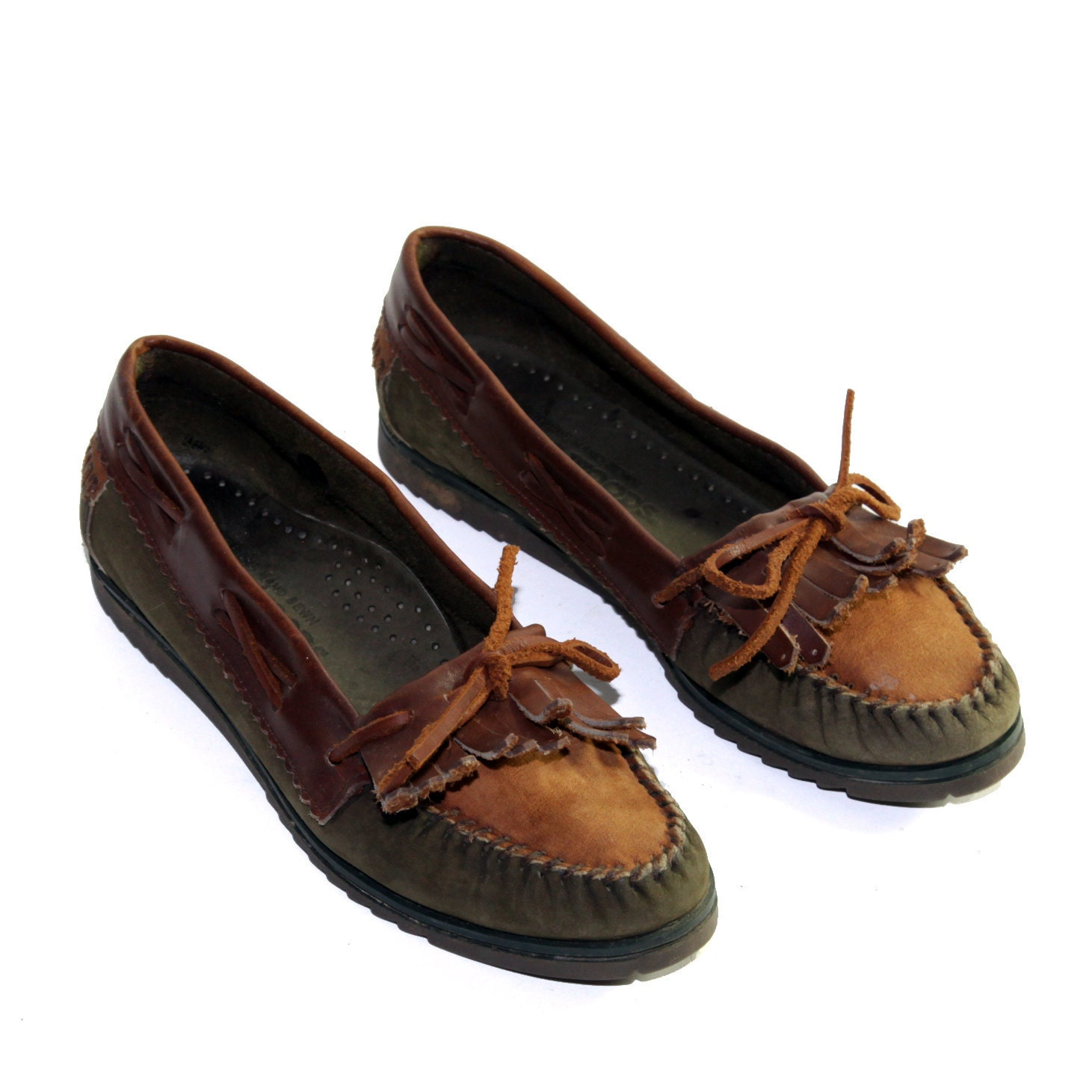 preppy s loafer boat shoes in woodland colors with