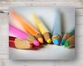 Radial of Colored Pencils - Art Studio - Photograph - 8 x 10