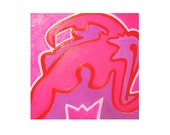Valentine Love Erotic Pink Oil Canvas Painting GALIPETTE reserved