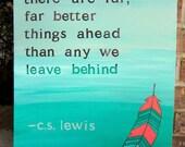 C.S. Lewis Quote Painting