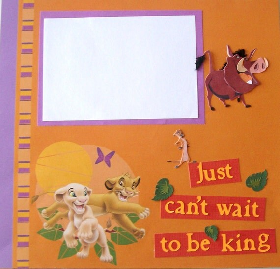 Premade Scrapbook Pages - The Lion King