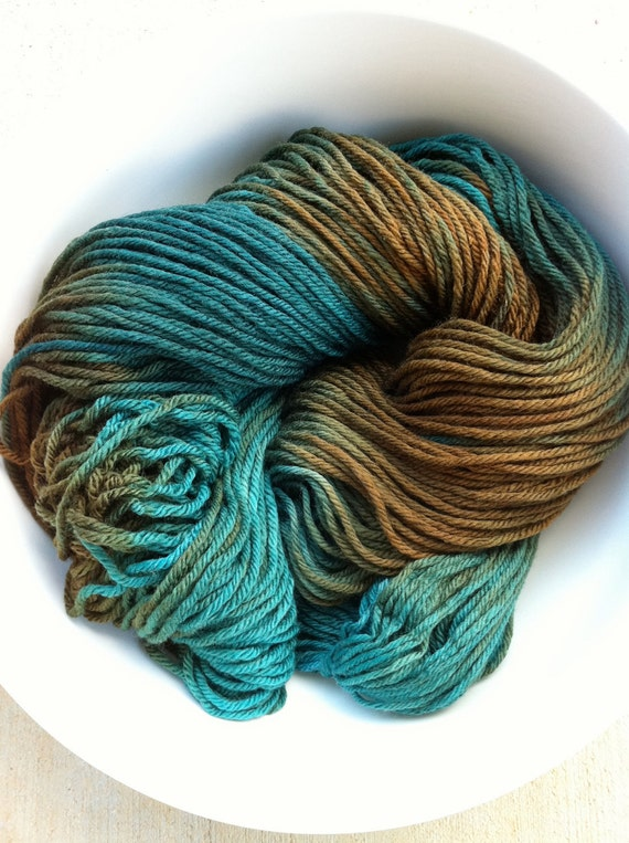 Teal Green (Autumn Line) - Worsted Weight Yarn (Superwash Merino Wool)