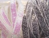 Glittery Velvet Ribbon Trim (1/4 inch)- 5 yards