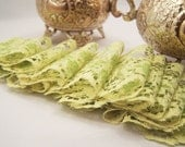 Vintage Rustic Charm Lime Green Net Lace for Wedding Attire, Costumes and  Altered Couture (2 inch) - 2 yards