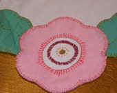Scalloped Cornered Pink Floral Tablecloth