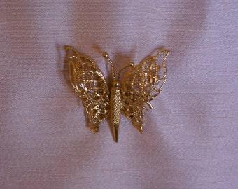 Monet Butterfly Brooch or Pin