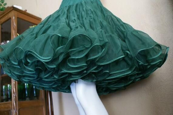 Three Layer Emerald Green Petticoat  Size Medium-Large