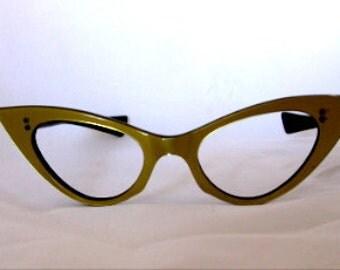 Gold Cat Eye Glasses
