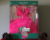 Vintage 1990 Holiday Barbie Doll Limited Edition (NRFB) Condition by Mattel