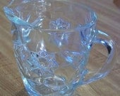 Vintage Clear Glass Crystal Creamer in Early American Prescut Pattern made by Anchor Hocking
