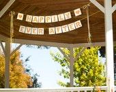 HAPPILY EVER AFTER rose flower celebration banner wedding garland decoration bridal shower