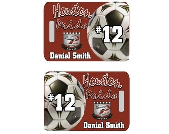 Soccer Luggage Tag, Soccer Bag Tag, Custom Bag Tag, Personalized Luggage Tag, Soccer Tag