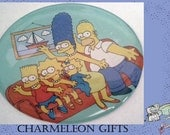 """The Simpsons Magnet- Upcycled TV Show character Magnet- 2"""" Cicular"""
