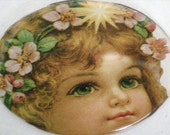Spring Angel Magnet- 2 inch circular household fantasy themed magnet