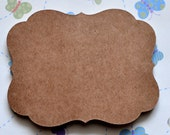 10 kraft paper flourish sticker adhesive labels diy