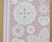 3 sets LACE DOILY White STICKERS