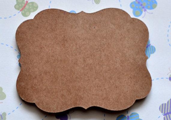 10 kraft paper flourish sticker adhesive labels diy