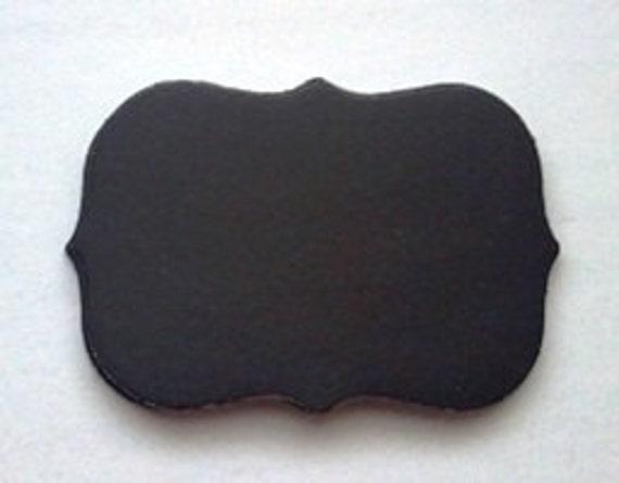 12 mini chalkboard paper flourish sticker adhesive labels diy