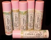 COTTON CANDY Flavored Beeswax & Shea Butter Lip Balm All Natural