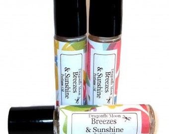 BREEZES & SUNSHINE Roll on Perfume Oil - Capture The Essence Of Summer - Citrus/orange/Rose/Lily/Woods