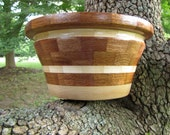 Ripple Bowl in Sapele and Maple