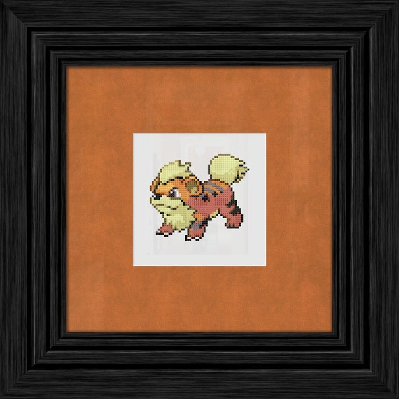 Growlithe Pokemon Cross Stitch Pattern - Instant PDF Download