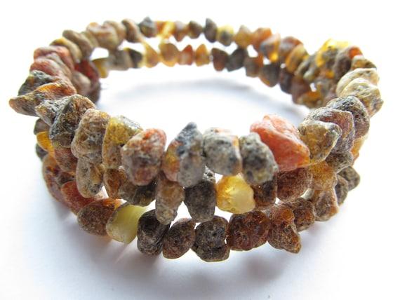 Raw Unpolished Baltic Amber Bracelet/Anklet