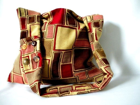 cross body bag.  red purse.  red bag.  brown purse.  brown bag.  multi colored cross body bag.  brown cross body bag.