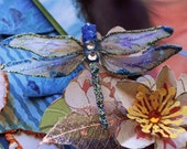 Reneabouquets Dragonly Set - Magical Dragonflies Scrapbook Embellishment Tag, Card, Mini Album, Wedding