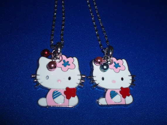 Cat Pendants! Large, Cute Cat, Enamel Pendants, with Jingle Bells! Girls Gifts, Teen Gifts, Birthday Gifts, Holiday Gifts, Gifts for Her