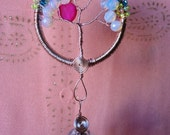 Tree of life crystal prism suncatcher, Feng shui cures, rainbow maker,  window hanging, free shipping.  s147