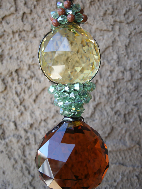 Feng Shui Crystal Prisms Suncatcher Window Hanging Garden
