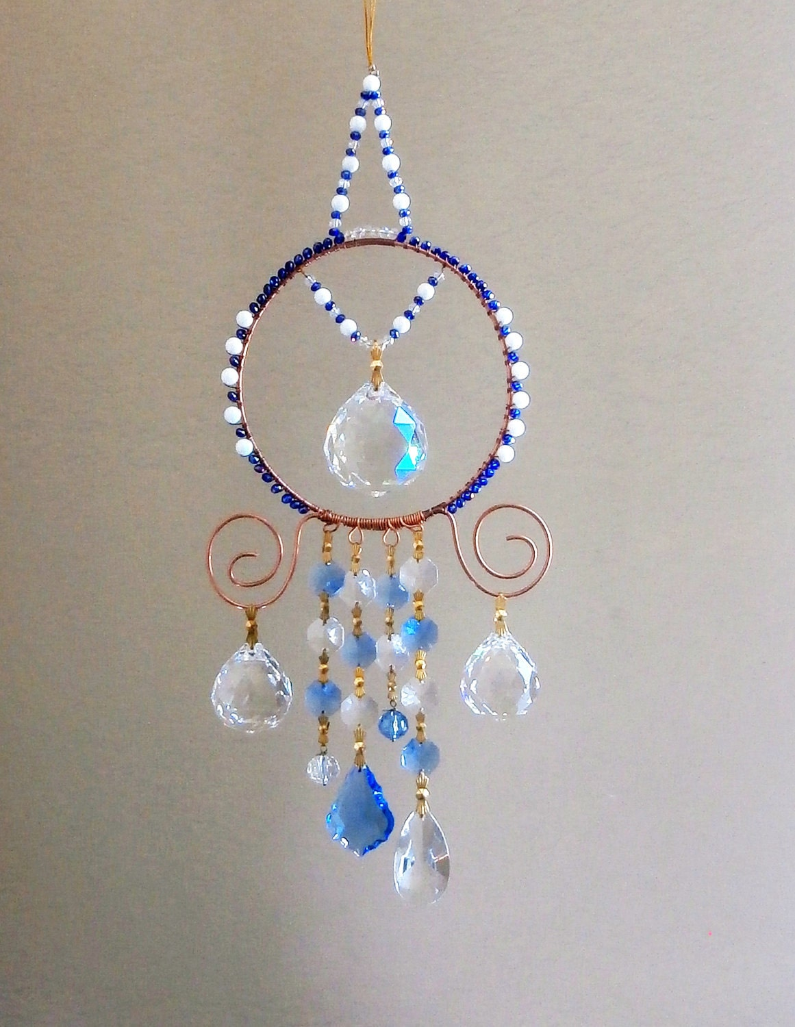 Crystal Suncatcher With Large Crystals Multi Prims