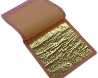 23K Genuine Gold Leaf (25 sheets/Loose Type)