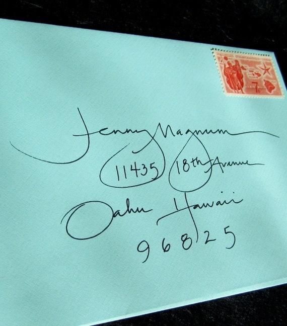 Items similar to calligraphy envelope handwritten