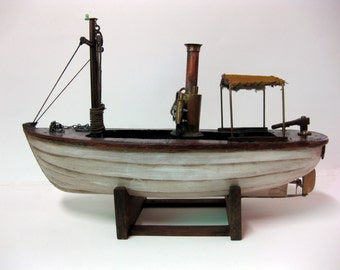 African Queen Mixed Media Upcycle boat