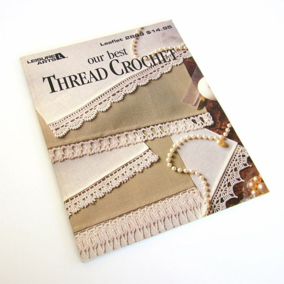 Thread Crochet Pattern Book, Crochet Lace and Doily Instruction,  Destash Book