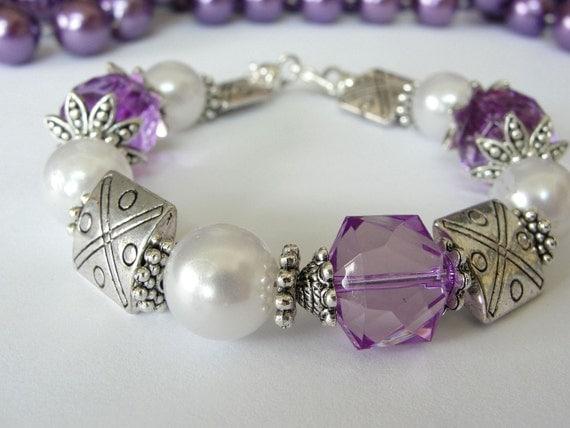 Chunky Purple Awareness Bracelet