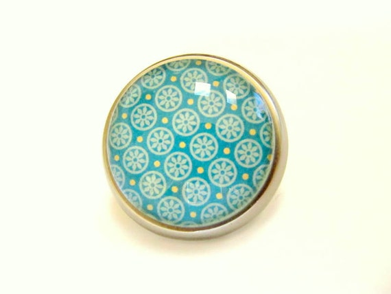 RESERVED for Monika - 7 Turquoise Knob Cabinet Hardware Home Decor Nursery Decor 7 yellow turquoise floral 6 olive 4 colorful floral