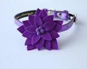 Purple Little Bloom Collar Accessory